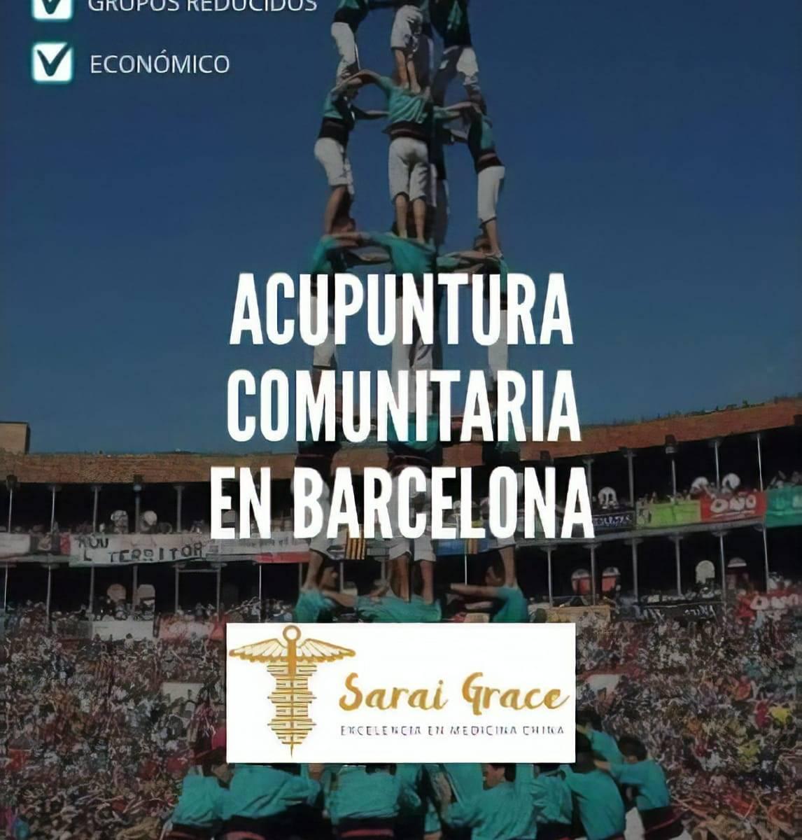 Acupuntura Comunitaria en Barcelona - Flyer